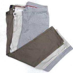 3 Hiltle Kahkis Pants Olive Tan Grey 38